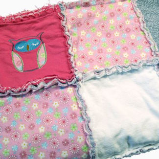 "Picture of Rag Quilt ""Girly"""