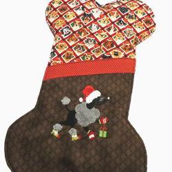 Image de Bas de Noël - Chienne