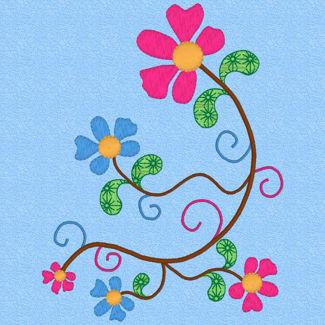 Picture of EMB-Flower Swirls