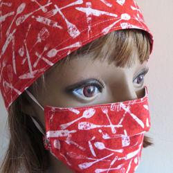 Image de Ensemble bonnet et masque facial - DANS LA CUISINE