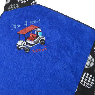 """Picture of Golf Towel """"Mon 4 roues Favori"""""""