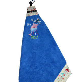 "Picture of Golf Towel Cocktail ""19e Trou"" - Royal Blue"