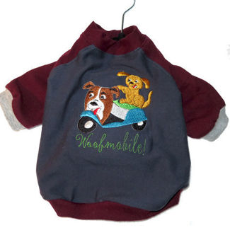 Picture of Dog Long Sleeves T-shirt - Woofmobile