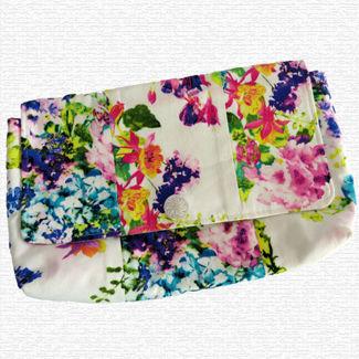 Picture of Clutch Bag - Fushia Flowers